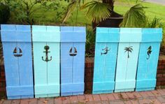 Shutter Exterior Interior ONE Cedar Wood Painted OR Unpainted Beach Cottage Lake Country House Shutter - 73 Inch by CastawaysHall Cottage Shutters, Interior Shutters, Wood Shutters, Country Shutters, Nautical Shutters, Farmhouse Shutters, Custom Shutters, Window Shutters, Beach Cottage Style