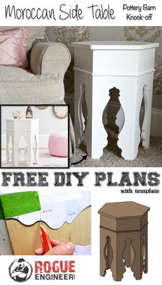 DIY Moroccan Side Table Plans | Pottery Barn Knock-off