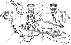 BMW 318i 1995  Fuel Tankand  Fuel Pump Parts Components Assembly fuel system