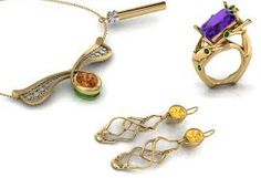 CAD jewellery designs by Weston Beamor competition shortlist Natalia Antunovity, Faith Pope and Zi Ye.