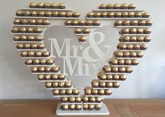 "Ferrero Rocher Heart Tree, ""Personalised"" holds 240+ DIY MDF Flatpack in Home, Furniture & DIY, Wedding Supplies, Centerpieces & Table Decor 