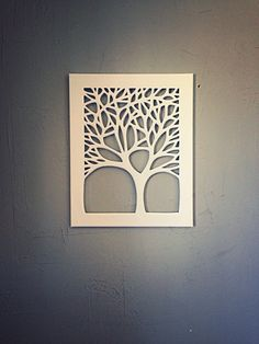 Canvas cut tree diy diy canvas art, paper cut design и cut o Tree Canvas, Diy Canvas Art, Corte Laser Metal, Tree Wall Art, Wall Art Decor, Cut Out Canvas, Wood Crafts, Paper Crafts, Laser Cut Steel