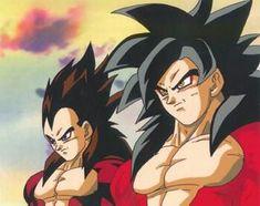 Goku y Vegueta Ss4-Dragon ball GT