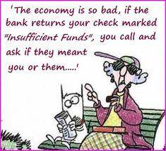 Maxine on the economy...