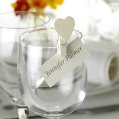 Ivory wooden heart pegs £4.79 for a pack of 20