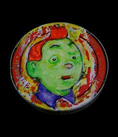 """Boite de camenbert- """"painted camenbert package"""""""