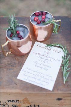 holiday cocktails @weddingchicks