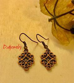 Boucle Earrings, Celtic Style Brass Earrings, Celtic Earrings, Brass Earrings, Earrings, Jewelry, epiconetsy, Etsy by Dzdjewelry on Etsy