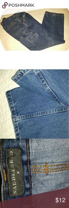 Saddlebred Jean's Painters Pockets Size 38W x 29 Saddlebred Jean's Painters Pockets Size 38W x 29  Great condition. Gently Worn. No frays, tears or stains. Saddlebred Jeans Relaxed