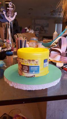 Base para pastel de pañales.