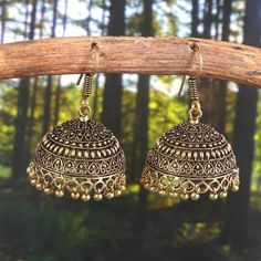 Your place to buy and sell all things handmade Stylish Jewelry, Cute Jewelry, Metal Jewelry, Fashion Jewelry, Jewelry Party, Jewlery, Silver Jewelry, Gold Jhumka Earrings, Jewelry Design Earrings
