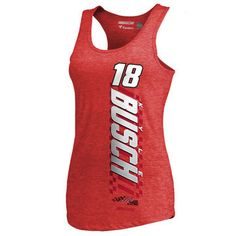 Kyle Busch Fanatics Branded Red Alternator Tri-Blend Tank Top