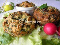 Velikonoční nádivkové mističky recept - fotografie - Vareni.cz Salmon Burgers, Ethnic Recipes, Food, Essen, Meals, Yemek, Eten