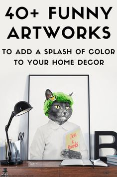 Custom Portraits & Cute Home Decor for Pet Owners by DarkMaskedCats Cat Lover Gifts, Cat Lovers, Cute Cats Photos, Tea And Books, Lion Print, Friendship Love, Lovers And Friends, Colorful Animals, Cute Home Decor