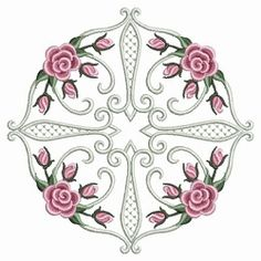 Pearl Roses Quilt 7 - 3 Sizes!   Quilt   Machine Embroidery Designs   SWAKembroidery.com Ace Points Embroidery