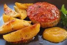 Μπιφτέκια φούρνου με πατάτες – αφράτα, νόστιμα και ζουμερά!