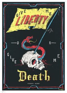 Inspirational quotes: Liberty, by Patrick Henry canvas poster – www.posterama.co