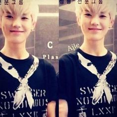 Ok, so i thought this was a predebut picture of Zelo... But then I realized he has blonde hair.. Iz bebe.