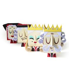 http://www.squareinchdesign.com/paper-toys-by-guillaume-pain/