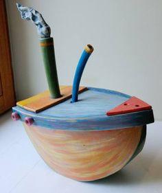 "Saatchi Art Artist Anna Sztucka; Sculpture, ""Steam Boat"" #art"