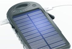 Pulse Charger - The Pulse is a versatile 500mAh power supply about the size of an iPhone 5 that offers two types of charging: traditional plug-in power and solar-power through its integrated solar panel. It features two USB outputs, an integrated flashlight and the whole unit is dust proof, water resistant, & shock proof. | werd.com