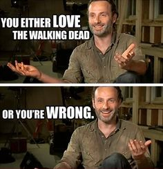 TV series The Walking Dead lol humor funny pictures funny pics Andrew Lincoln