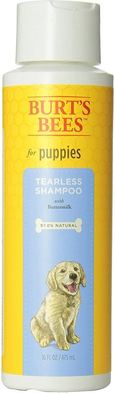 Groom your pet with gentle ingredients that help him stay fresh naturally. Burt's Bees Tearless Puppy Shampoo with Buttermilk for Dogs is made with some of nature's finest ingredients for your peace of mind and a clean and calm puppy. Free of sulfates and colorants, this cleanser is pH balanced for dogs and is infused with rich and nourishing buttermilk to soothe and soften skin.