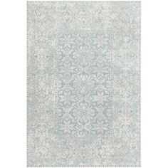 Lend a touch of feminine flair to the living room or guest suite with this lovely rug, showcasing a distressed floral motif. Produ...