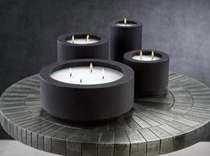 Candles & Home fragrance | zodax Citronella Candles, Scented Candles, Pillar Candles, Candle Jars, Best Smelling Candles, Black Fig, Black Cement, Black Candles, Aromatherapy Candles