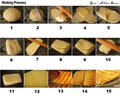 Step by step puff pastry with pictures