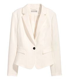 Check this out! Fitted jacket in a stretch weave with classic notch lapels, a chest pocket and welt front pockets with a flap. Lined. - Visit hm.com to see more.