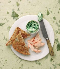 Hot smoked trout and green butter recipe Green Butter Recipe, Trout Recipes, Gastro Pubs, Smoked Trout, Pub Food, Fish Dishes, Fish And Seafood, International Recipes, Love Food