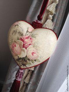 """Подвески ручной работы. Ярмарка Мастеров - ручная работа """"Grace"""" Интерьерное сердце. Handmade."""