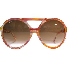 Pierre Cardin Brown Plastic Sunglasses | Vestiaire Collective