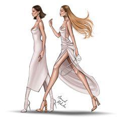 Fashion Design Sketchbook, Fashion Design Portfolio, Fashion Design Drawings, Fashion Sketches, Fashion Illustration Chanel, Illustration Mode, Fashion Illustrations, Design Illustrations, Fashion Figure Drawing