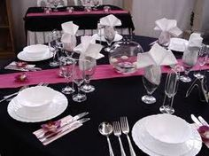 black and pink wedding themes - Google Search