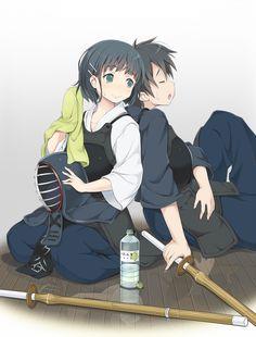 kirito and Kirigaya Suguha