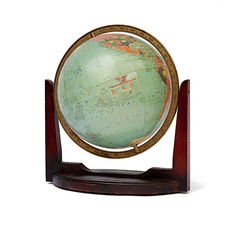 Vintage+12+Replogle+Reference+Globe++Cherrywood+Base++c+by+27thAVE