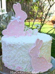 You could also do this with bunny shaped cookies covered with fondant or color flow. :)