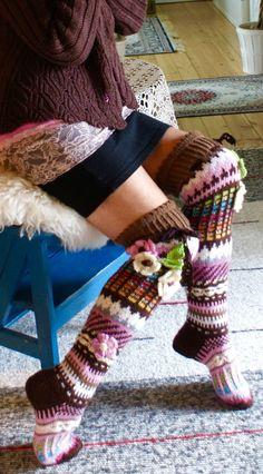 Slipper Socks, Slippers, Thick Socks, Thigh High Socks, Wool Socks, Winter Beauty, Knitting Needles, Leg Warmers, Knitwear