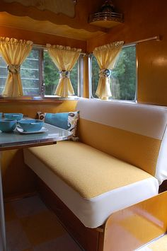 Bright And Cheerful Vintage Trailer Interior Vintage Camper Trailers For Sale If You Are Looking To Buy A Travel Trailer Remodel, Travel Trailers For Sale, Vintage Campers Trailers, Camper Trailers, Shasta Camper, Camper Van, Used Trailers For Sale, Shasta Trailer, Vintage Caravans
