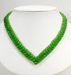 Items similar to Ladies V Neck Beaded Necklace. Green Seed Bead Long Necklace for Women. on Etsy Beaded Jewelry, Beaded Necklace, Ladies Necklace, Lady V, Stone Pendants, Bead Weaving, Jewelry Supplies, Beautiful Necklaces, Seed Beads
