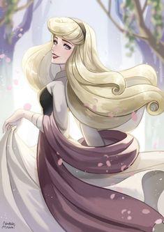Disney Princess Aurora, Disney Princess Fashion, Disney Princess Drawings, Disney Princess Pictures, Disney Drawings, Arte Disney, Disney Fan Art, Disney Love, Disney Theory