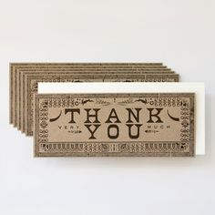 These are pretty swanky | Thank You Flat Notes Pack Of 6