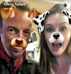 Olivia Tallent and Bruce Springsteen selfie