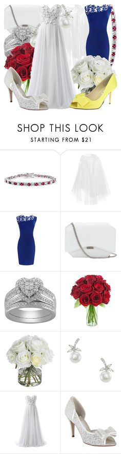 """Snow White Wedding"" by fabulousgurl ❤ liked on Polyvore featuring Bling Jewelry, Rime Arodaky, Givenchy, Diane James, CZ by Kenneth Jay Lane, Rainbow Club, Nina, wedding, snowwhite and disneybound"