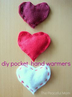 Valentine's Day: Warm your loved one's heart and hands with these cute DIY Valentine Hand Warmers --from ThePeacefulMom.com
