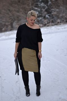 Black and Gold | Curvy Claudia
