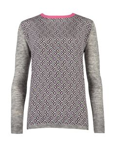 AMBERLY - Geo print knit
