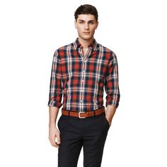 GANT Mens Shirts - New arrivals in store and online. Premium quality shirts that reflect your sense of style. Button Down Shirt, Men Casual, Plaid, Mens Fashion, My Style, Fitness, Mens Tops, How To Wear, Shirts